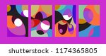 vector abstract colorful...   Shutterstock .eps vector #1174365805