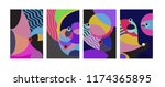 vector abstract colorful... | Shutterstock .eps vector #1174365895