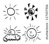 Set Of Hand Drawn Sun