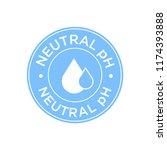 neutral ph icon | Shutterstock .eps vector #1174393888