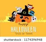 banner halloween  trick or... | Shutterstock .eps vector #1174396948