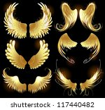 arts painted  gold angel wings... | Shutterstock .eps vector #117440482