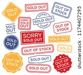 sold out stamps. out of stock...   Shutterstock .eps vector #1174407295