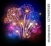 vector holiday festival...   Shutterstock .eps vector #1174409185