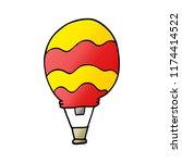 cartoon doodle of a hot air... | Shutterstock .eps vector #1174414522