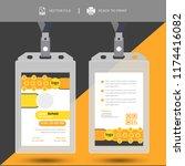 creative simple id card design...   Shutterstock .eps vector #1174416082