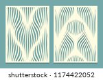 set of decorative panels for... | Shutterstock .eps vector #1174422052