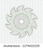 green rosette or money style... | Shutterstock .eps vector #1174422235