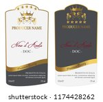 set of vector wine label for... | Shutterstock .eps vector #1174428262
