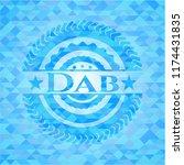 dab realistic light blue mosaic ... | Shutterstock .eps vector #1174431835