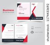 business bi fold brochure...   Shutterstock .eps vector #1174433692