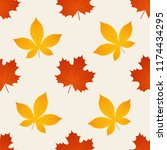 autumn pattern. vector.... | Shutterstock .eps vector #1174434295