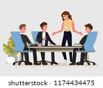 business people having board... | Shutterstock .eps vector #1174434475