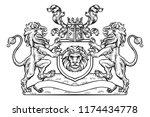 heral3dic coat of arms crest...   Shutterstock . vector #1174434778