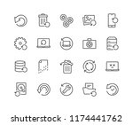 simple set of recovery related... | Shutterstock .eps vector #1174441762