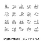 simple set of landscape related ... | Shutterstock .eps vector #1174441765