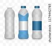 transparent plastic bottles set.... | Shutterstock .eps vector #1174442785