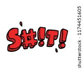 cartoon doodle swear word   Shutterstock .eps vector #1174451605