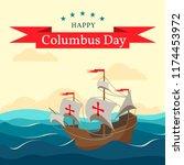 happy columbus day. national... | Shutterstock .eps vector #1174453972