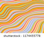 billowy curve lines wavy... | Shutterstock .eps vector #1174455778