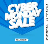 cyber monday sale  poster... | Shutterstock .eps vector #1174458415