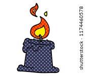 cartoon doodle lit candle | Shutterstock .eps vector #1174460578