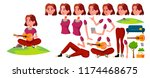 teen girl vector. animation... | Shutterstock .eps vector #1174468675