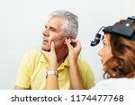 senior man at medical...   Shutterstock . vector #1174477768
