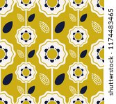 seamless floral pattern in...   Shutterstock .eps vector #1174483465