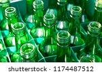 recycling green bottles   Shutterstock . vector #1174487512