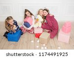 merry christmas and happy new... | Shutterstock . vector #1174491925