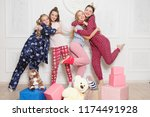 merry christmas and happy new... | Shutterstock . vector #1174491928