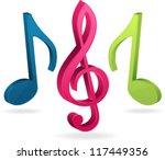 musical  notes | Shutterstock .eps vector #117449356