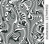 abstract crazy zebra texture.... | Shutterstock .eps vector #117449452
