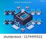 isometric design concept... | Shutterstock .eps vector #1174495522