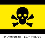 toxic safety hazard danger... | Shutterstock .eps vector #1174498798
