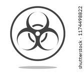 toxic safety hazard danger... | Shutterstock .eps vector #1174498822
