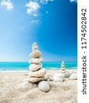 avali beach  lefkada island ... | Shutterstock . vector #1174502842