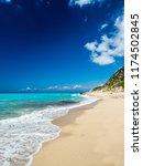 avali beach  lefkada island ... | Shutterstock . vector #1174502845