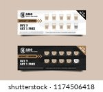 loyalty card for cafe coffee.... | Shutterstock .eps vector #1174506418