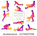 set 10 kama sutra positions.... | Shutterstock .eps vector #1174507558