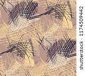 various pencil hatches.... | Shutterstock .eps vector #1174509442