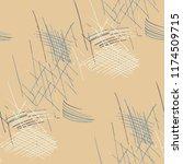 various pencil hatches.... | Shutterstock .eps vector #1174509715