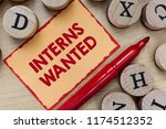 text sign showing interns... | Shutterstock . vector #1174512352