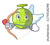 cupid fresh melon isolated on... | Shutterstock .eps vector #1174518298