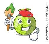 artist fresh melon isolated on... | Shutterstock .eps vector #1174518328