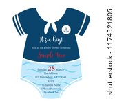 baby shower invitiation sailor... | Shutterstock .eps vector #1174521805