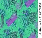 various pen hatches. seamless... | Shutterstock .eps vector #1174522018