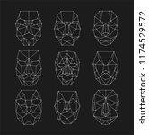 scanning grid  identification... | Shutterstock .eps vector #1174529572