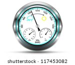 barometer instrument  with two... | Shutterstock .eps vector #117453082
